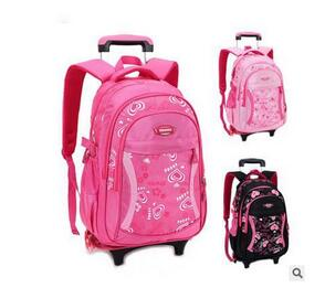 8f79a8fbe681 US $37.41 13% OFF|Children's Travel luggage Rolling Bag Girls Kids Travel  Trolley Backpack On wheels Girl's Trolley School wheeled bags Backpacks -in  ...