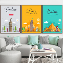 Paris London New York Rome Tokyo Travel Nordic Posters And Prints Wall Art Canvas Painting Pictures For Living Room Decor