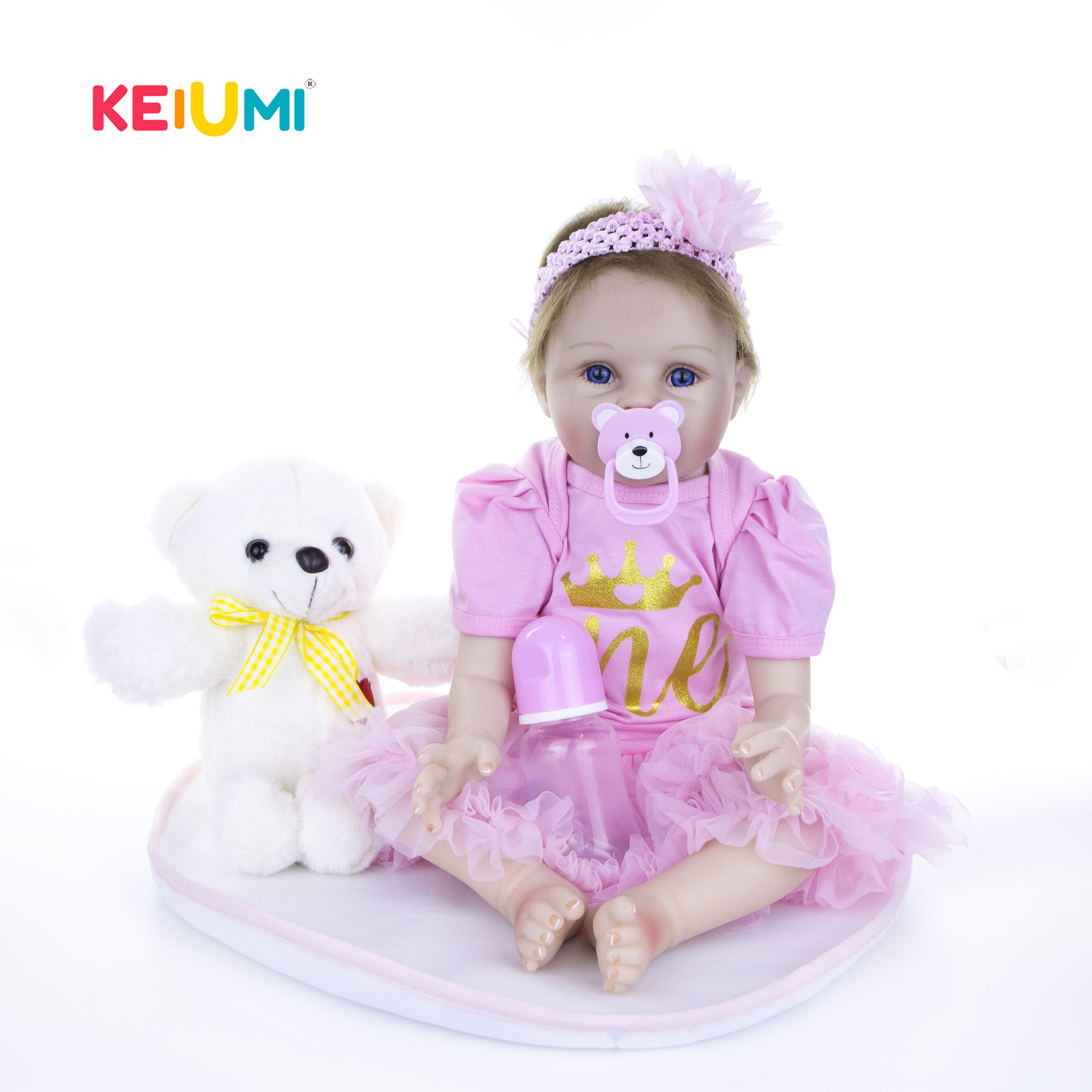 22 Inch Lifelike Reborn Girl Baby Dolls Real Looking Silicone Soft Fashion Princess Newborn Babies Doll For Kids Play House Toy22 Inch Lifelike Reborn Girl Baby Dolls Real Looking Silicone Soft Fashion Princess Newborn Babies Doll For Kids Play House Toy