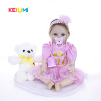 22 Inch Lifelike Reborn Girl Baby Dolls Real Looking Silicone Soft Fashion Princess Newborn Babies Doll For Kids Play House Toy