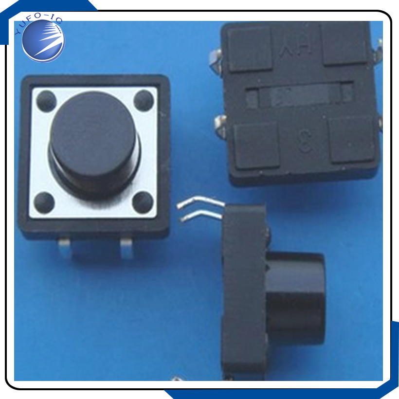 1000PCS 12 12 4 3MM micro switch touch switch Tactile Push Button switch horizontal copper foot