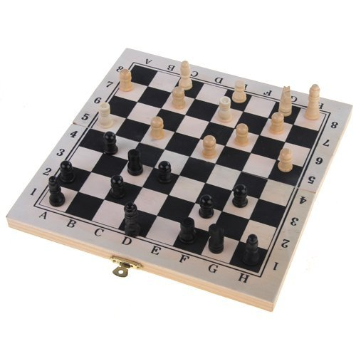Good deal Foldable Wooden Chessboard Travel Chess Set with Lock and Hinges
