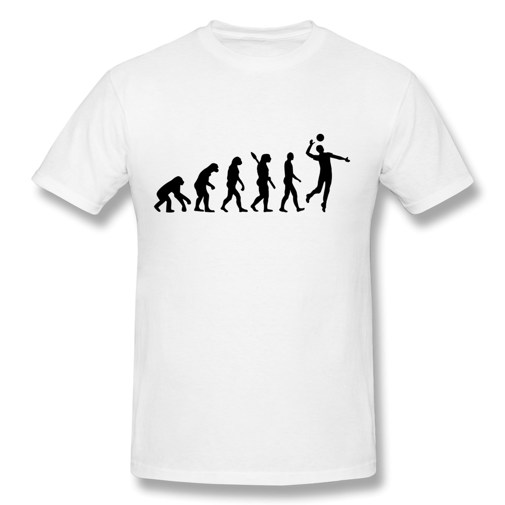 New 2014 Custom Round Neck T Shirt Men Evolution Volleyball Cool