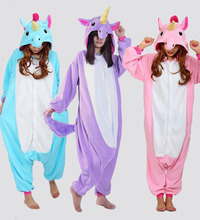 Tenma фланели onesies единорог косплей унисекс взрослых животных пижамы мультфильм костюм