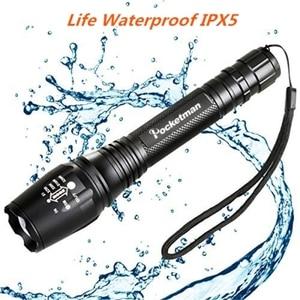 Image 5 - 5 modi Super Helle Super Helle LED Taschenlampe Zoom XML T6/L2 Starke Licht Wasserdicht Polizei Taschenlampen 18650 Taschenlampe Lichter