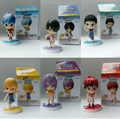 7cm 6pcs/set Q version Kuroko Tetsuya Kuroko no Basket Kise Ryota PVC Action Figure Japanese anime figure Model toys dolls