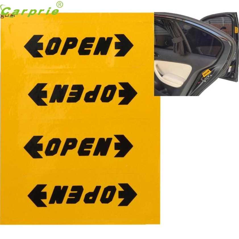 Carro de alta qualidade-estilo 1 conjunto adesivos de automóvel reflexivo segurança porta do carro abertura aviso dicas de segurança decalques adesivo carro-estilo