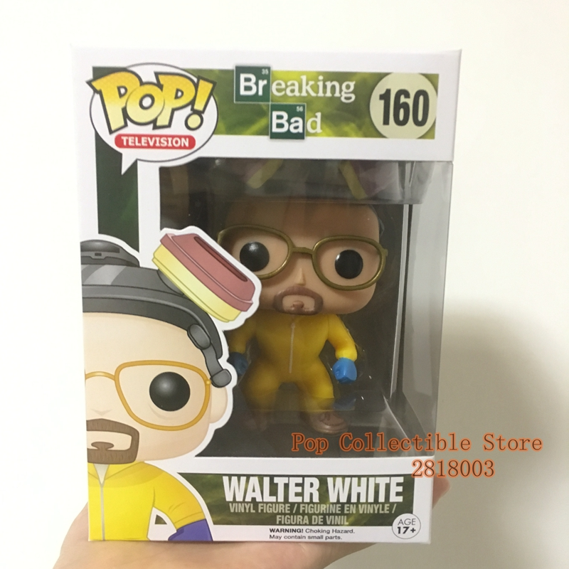 цена на Original Funko pop TV: Breaking Bad - Walter White with Glass Vinyl Action Figure Collectible Model Toy with Original box