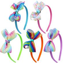 Prom Party Colorful Hair Accessories Flower Hair bands for girls Big Bow Headband