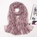 2016 новый мори девушка осень и зима женский шелковый шарф вышивка вышитые дизайн длинный шарф весной и осенью шарф мыс