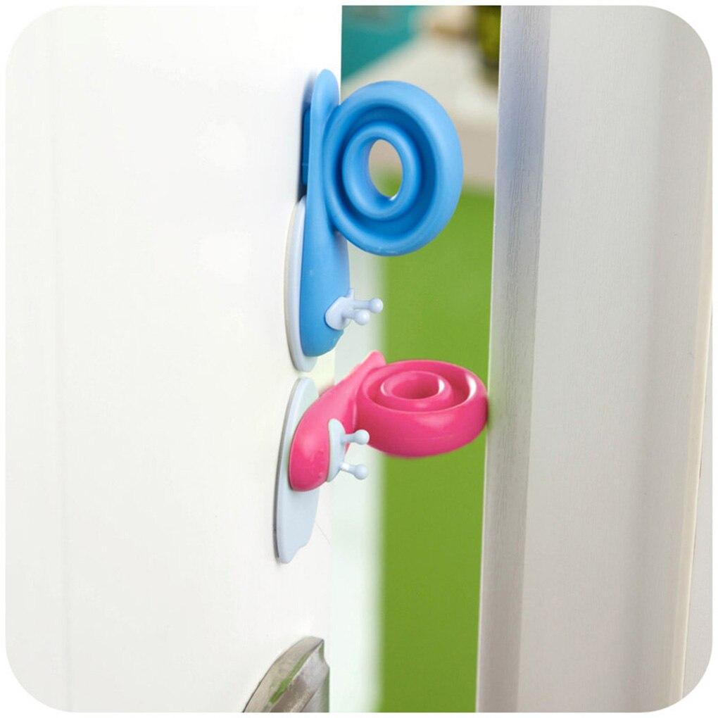 3 Pcs Plastic Baby Safety Veiligheid Gridad Snail Shape Cabinet Door Stopper Lock Porte Enfant Securite Cartoon Door Stopper