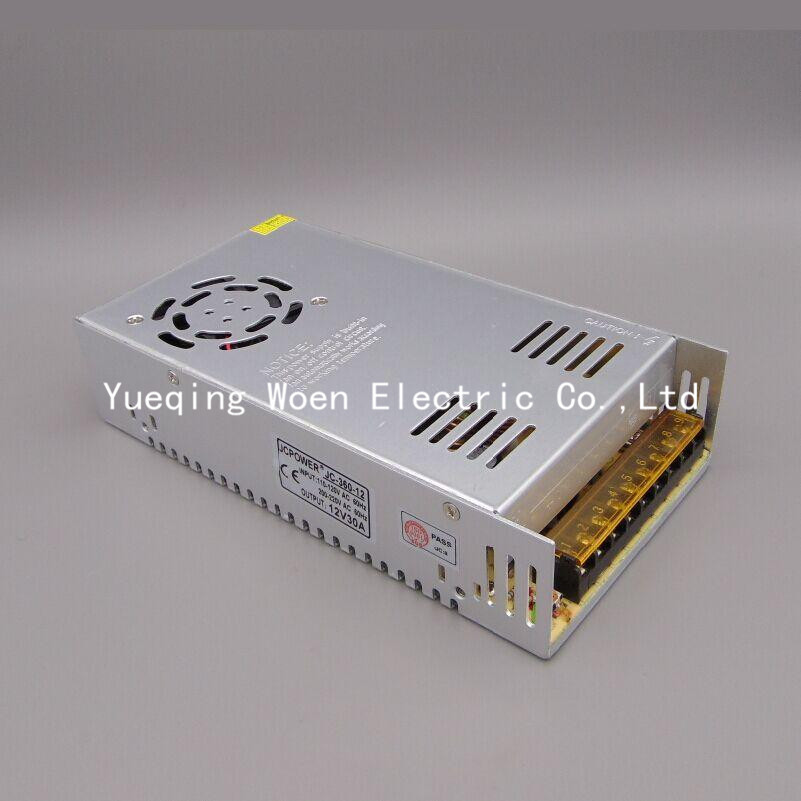 S-360-12 switch 12VDC 30A 360W transformer power supply 12V 30A 360W LED switching power supply 360w 12v 30a switching power supply industrial power supply safety equipment power supply
