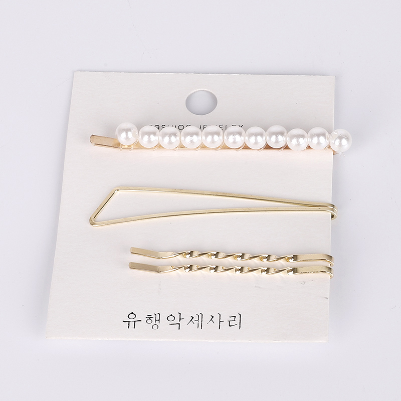 3Pcs/Set Pearl Imitation Metal Hair Clips Women Hairpin Snap Barrette Hairgrip Hair Accessories for girls hair styling