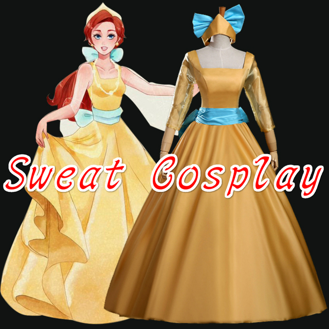 Custom Made Princess Anastasia Yellow Dress Anastasia Costume ...