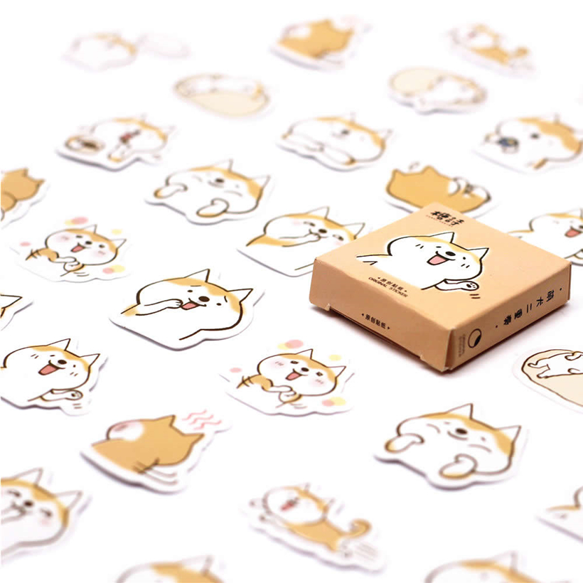 Lolede New 45pcs/set Corgis Memo Pad Paper Sticker Decoration Diy Album Scrapbooking Sticker Kawaii Stationery Gift
