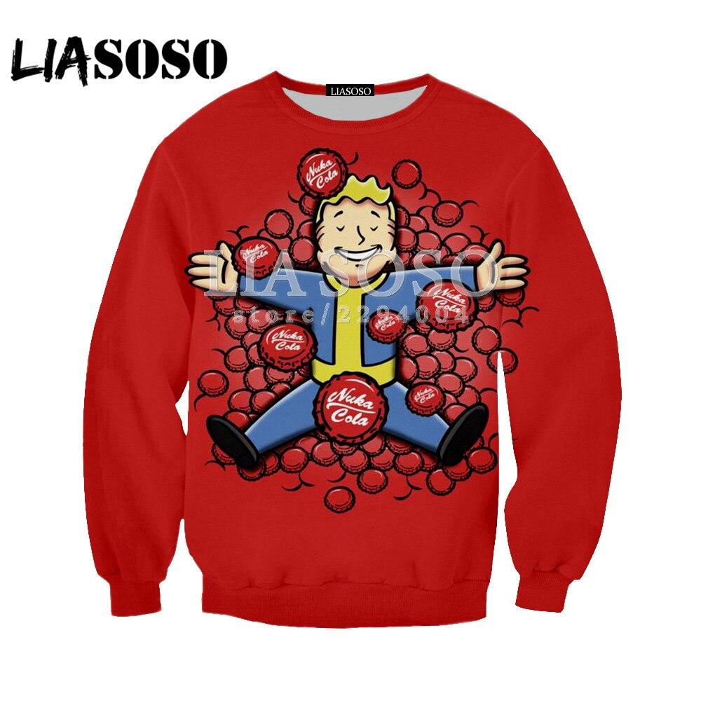 LIASOSO 2018 Long Sleeve Fallout Finger Hoodie Men/Women Sweatshirts 3D Printed Hooded Tops Streetwear Hoodies Pullovers Y146