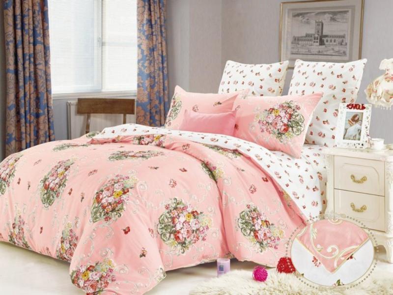 Bedding Set family KAZANOV. A.. Кристел, pink bedding set family kazanov a peplum
