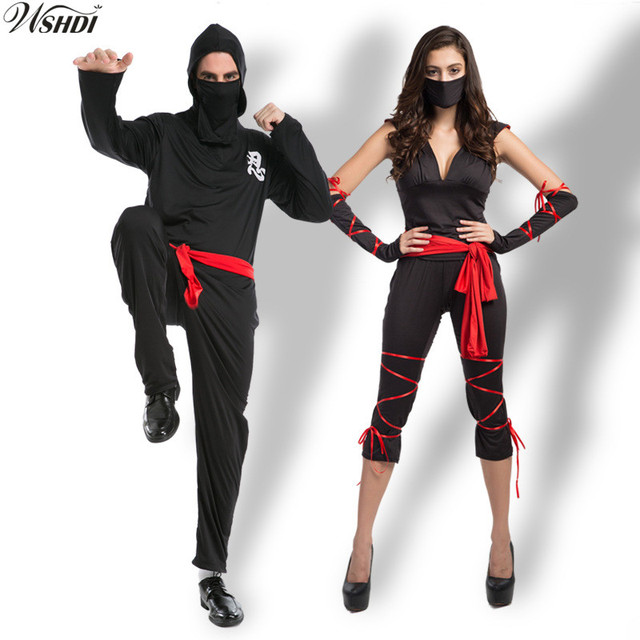 M-XL Adult Ninja Costumes Halloween Party Women Men Warrior Stealth Cosplay Anime Masked Ninja  sc 1 st  AliExpress.com & M XL Adult Ninja Costumes Halloween Party Women Men Warrior Stealth ...