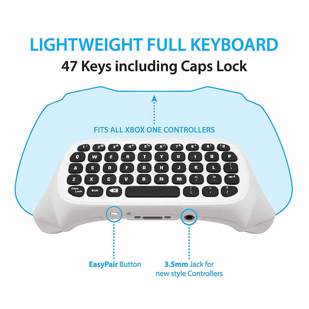 medium resolution of  acgam mini wireless 2 4g mini wireless keyboard message for microsoft xbox one controller chatpad for