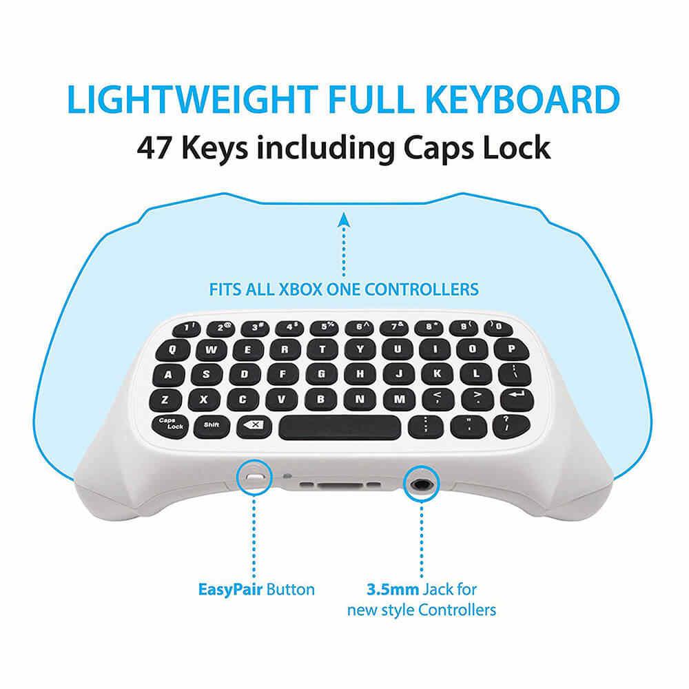acgam mini wireless 2 4g mini wireless keyboard message for microsoft xbox one controller chatpad for [ 1000 x 1000 Pixel ]