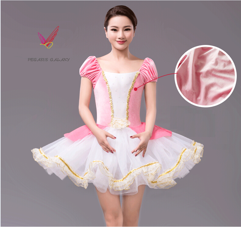 Free Shipping Pink Velvet Child Ballerina Dress Kids Saias Gymnastics Leotard Adults Ballet Tutu DanceWear Women Balet Clothes