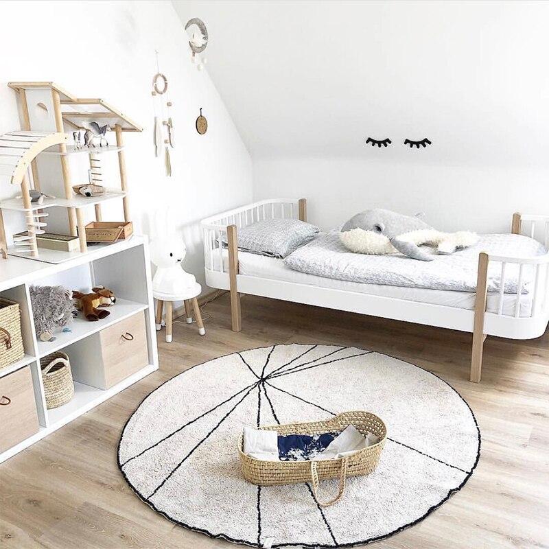 Nouveauté 100% coton tapis de pastèque tapis de jeu enfants photographie Tapete tapis chambre d'enfants décoration de la maison 120 CM