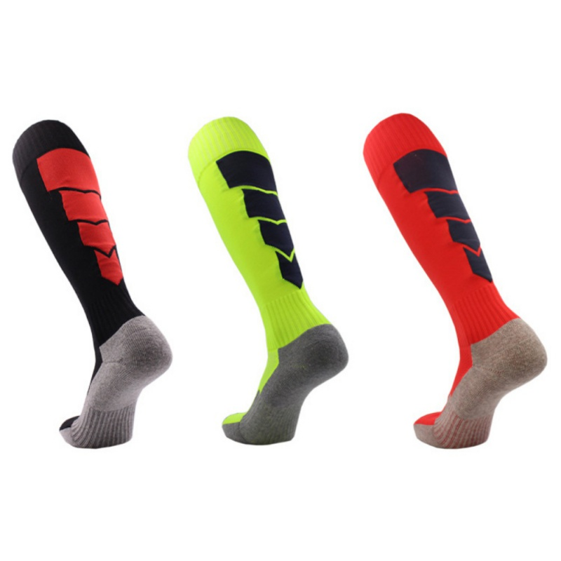 Amiable Men Outdoor Sport Socks Long High Knee Soccer Socks Anti-slip Ankle Leg Compression Protect Deodorant Socks Home