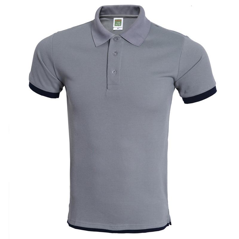 Classic Men Polo Shirt Polo Homme 2017 Mens Fashion Design Gray Polo Shirts Summer Brand Short Sleeve Polos Xxxl