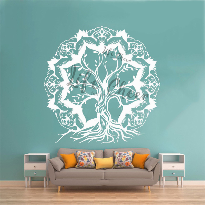 Cheap and Chic Nursery wall sticker Half Big Tree Wall Decal for Wall Corner
