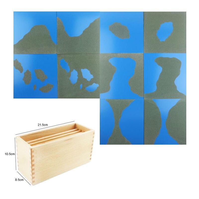 Matériaux sensoriels en bois Montessori papier de verre Montessori océan et terre jouets éducatifs d'apprentissage pour les tout-petits ME2344H