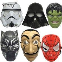Moive La Casa De Papel Salvador Dali Маска Халк Штурмовик паук Супермен пластиковая маска для детей Хэллоуин Карнавал косплей