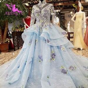 Image 5 - AIJINGYU فستان زفاف الدانتيل امرأة المشاركة الفاخرة خمر رخيصة صنع في الصين حجم كبير ثوب 2021 مواقع الزفاف