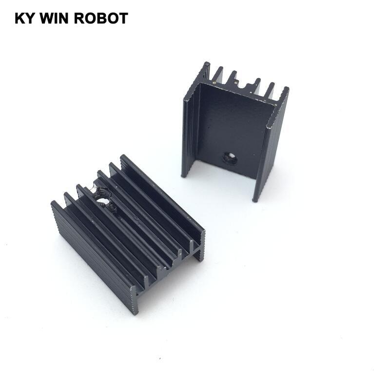 10pcs Free Shipping Aluminium TO-220 Heatsink TO 220 Heat Sink Transistor Radiator TO220 Cooler Cooling black 20*15*10MM