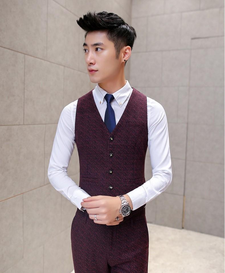 wine red vest 2