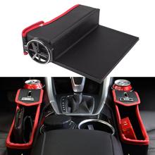 2017 New Coming Car Auto Seat Seam Storage Box Stowing Tidying Box Drivers Side Slit Organizer Gap Cup Holder