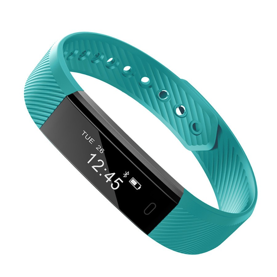 Smartch ID115 Braccialetto Intelligente Inseguitore di Fitness Contapassi Fitness Fascia Sveglia Vibrazione Wristband Per Iphone Android