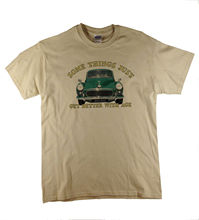 Somethings...Morris Minor 1000 Classic Car Traveller Printed Natural T-Shirt  Harajuku Tops t shirt Fashion Unique