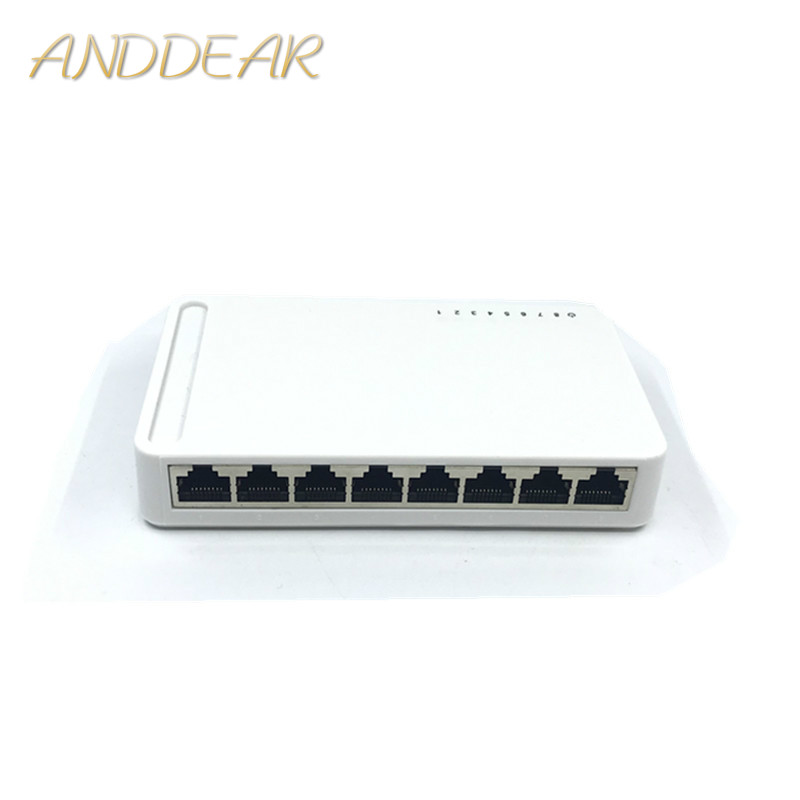 OEM Novo modelo RJ45 8 Port Gigabit Switch Desktop Switch Ethernet 10/100/1000 mbps Lan Hub switch 8 portas