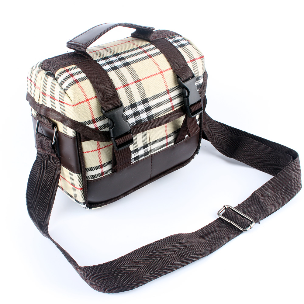 Plaid Camera Bag Case for Nikon Coolpix P530 P520 L840 L820 L830 L340 L330 L310 L320 L130 L120 L110 L105 L100 L610 L620