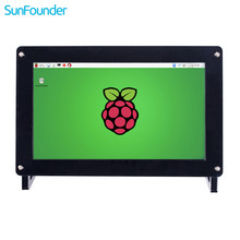Best price SunFounder 7″IPS Display Panel Monitor 1024*600 HD LCD Audio Speaker HDMI/VGA/NTSC/PAL Screen for Raspberry Pi 3,2 Model B+/A+B