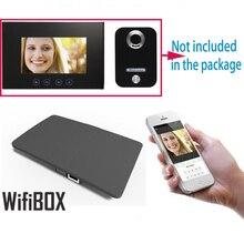 Caixa de wi fi ip sem fio para vídeo porteiro campainha edifício intercom sistema controle 3g 4g android iphone ipad app no telefone inteligente