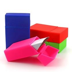 10 kolor papierosy silikonowe pokrywy skrzynka pokrywa gadżety dla mężczyzn moda elastyczny silikon przenośny mężczyzna/kobiety papierośnica