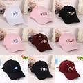 2016 nueva otoño del verano mujeres de la manera tapas ocasionales de algodón carta gorras de béisbol ajustable hip hop snapback sol casquette sombreros