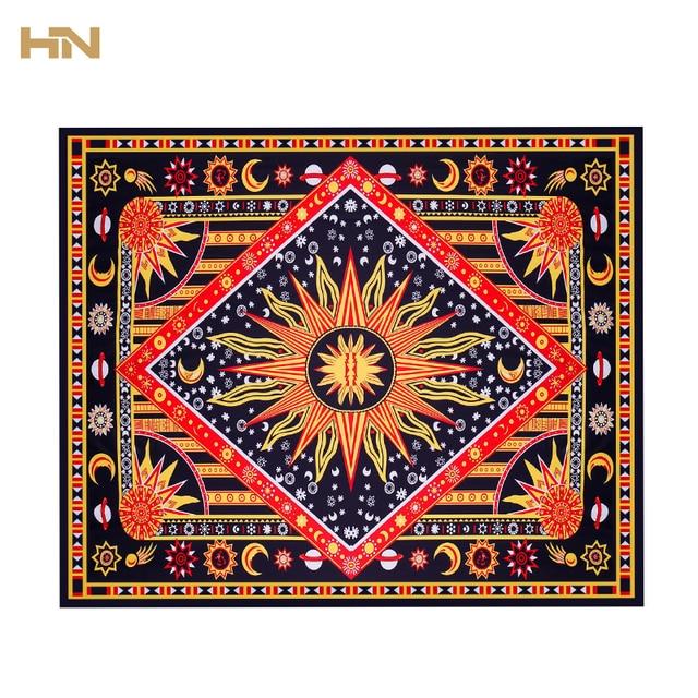 Celestial Sun Moon Stars Mandala Tapestry Wall Hanging Throw Towel Beach Yoga Mat Decor 175cm Carpet Toalla Mandalas Playa