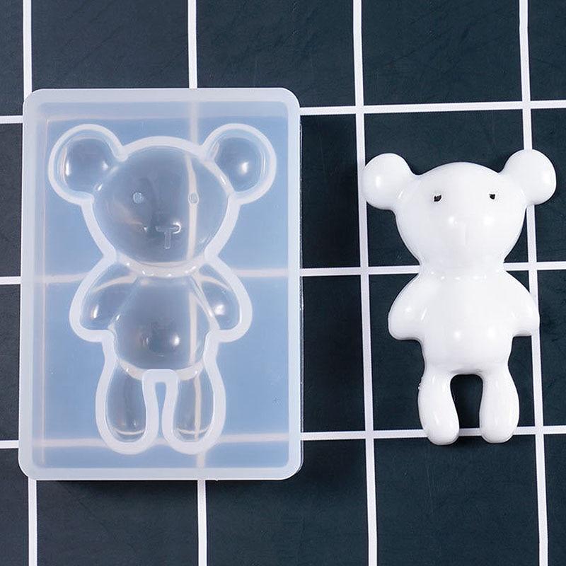 1 Pc Silikon Formen Bär Form Tiere Uv Formen Für Harz Schmuck Diy Mold Harz Formen Für Schmuck Diy Kinder Spielzeug Schlüssel Kette