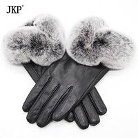 2017 Real Rex Fur Gloves Touch Screen Gloves Women S Genuine Leather Warm Winter Gloves Women
