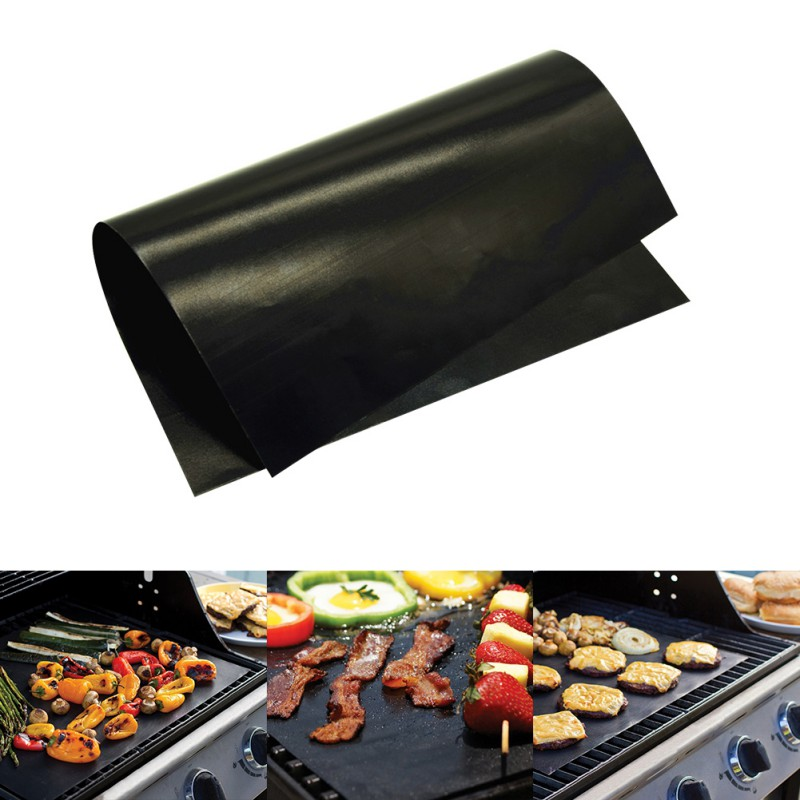 Bright Non Stick Bbq Grill Mat Mesh Glass Fiber Bakeware Churrasco Roaster Cooking Tools Nonstick Grilling Mats Wire Mesh Oven Pad Beautiful And Charming Home & Garden