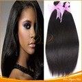 Luz Yaki peruano extensão do cabelo virgem cabelo grosso Yaki kinky reta Yaki italiano
