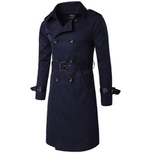 Men Trench High-end Coat Men's Clothing Much Color Chose Long Trench Design Double Breasted Coats Outerwear Men Clothes