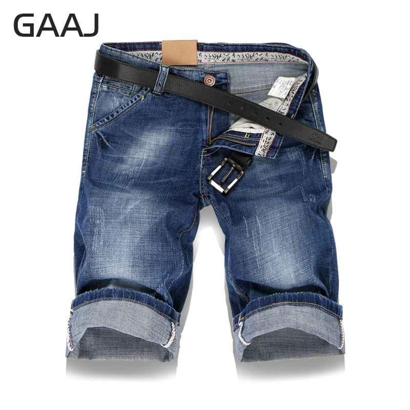 GAAJ Große größe Männer Loch Denim Shorts Männlichen kurzen jeans 2019 Neue sommer Casual blau kurze jeans kurze hosen Plus größe 36 38 40